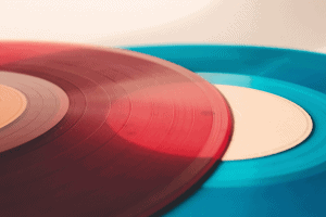 colorful music disc