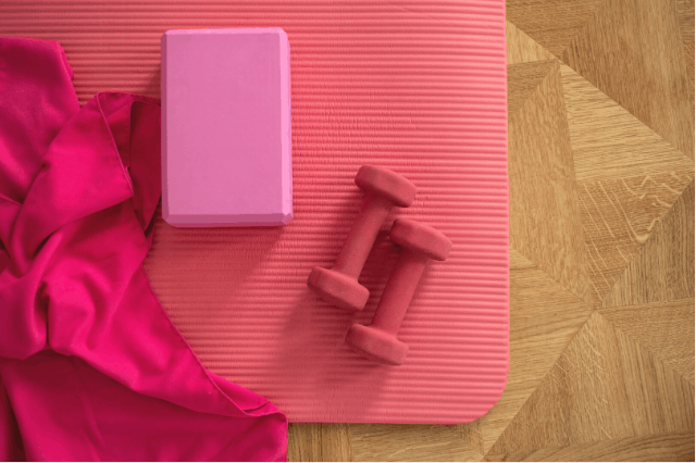 Exercise mat to dampen workout noises