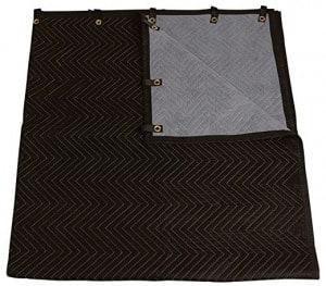 Grommeted industrial soundproof blanket for door