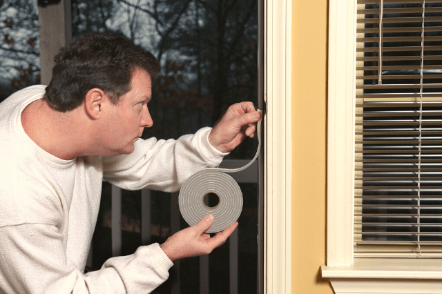 Weather stripping to soundproof a door