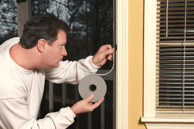 weatherstripping to quiet garage windows