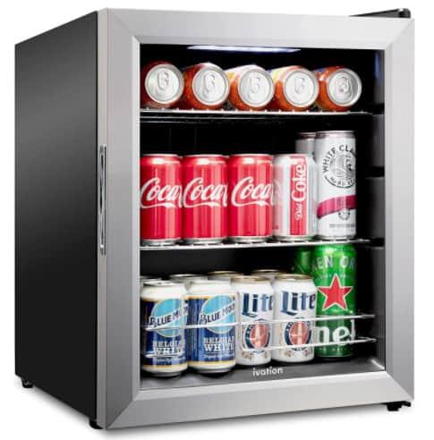 Ivation 62 can quiet mini fridge