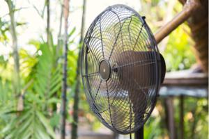 Pedestal fan used outdoor